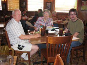 Bill, Jane, and Joseph at Big Bob Gibson's.