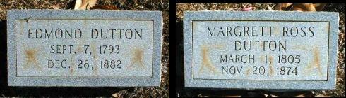 Edmond and Margaret Dutton graves