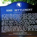 Sims Settlement Marker front
